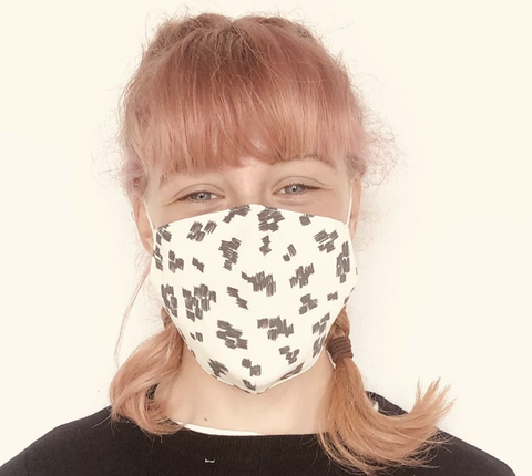 Face Mask Monochrome Print