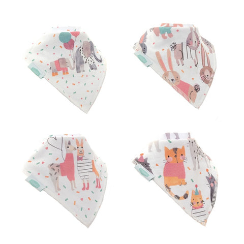 Dribble Bib 4 Pack 'Ticker Tape Parade'
