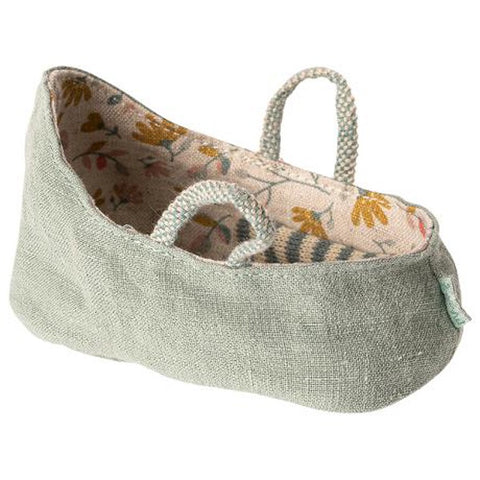 MY Maileg Carry Cot - Dusty Green