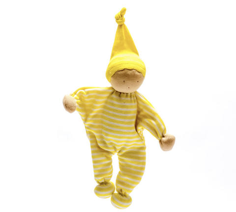 Organic Baby Buddy - Yellow Stripe