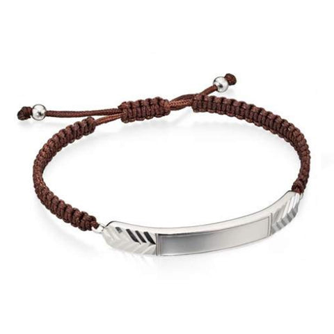 Cheveron Cut Brown Macrame Bracelet