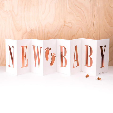 Luxury Concertina Card - New Baby