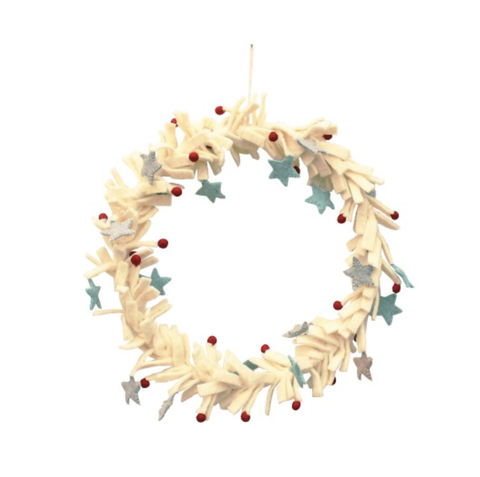 Ice and Berry Star Wreath