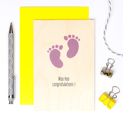 Wooden G. Cards Market Magic - Baby Feet