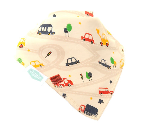 Bandana Dribble Bib Busy Vehicles