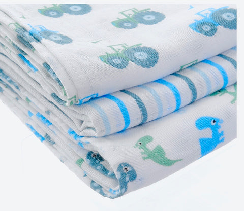 Box Set of 3 Blue Muslins