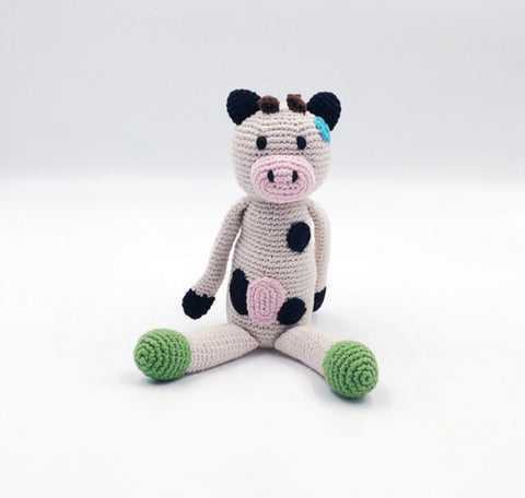 Crochet Farm Animal Cow Rattle