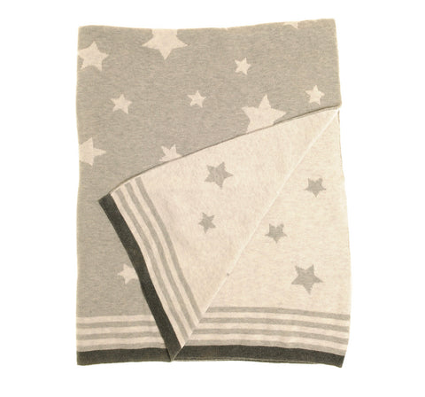 Charcoal Grey Star Blanket