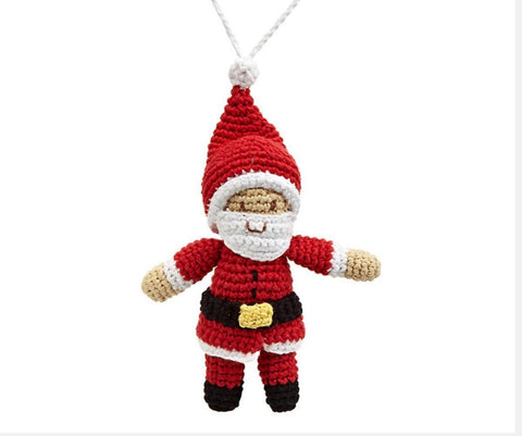 Knitted Fairtrade Father Christmas Decoration