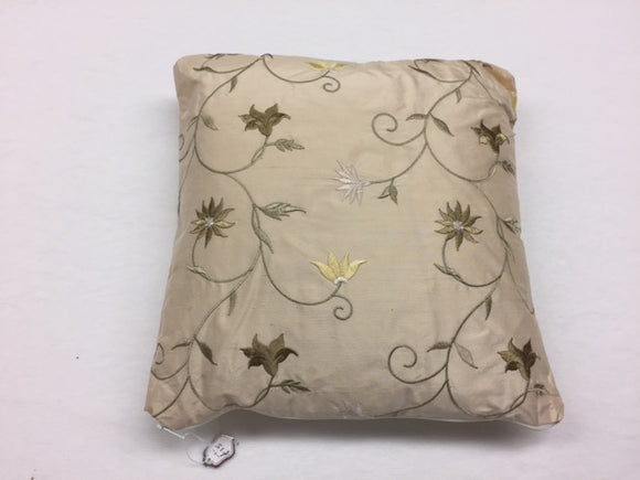 Embroidered Gold silk 25cm x 25cm