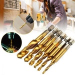 6 PCS Metric Thread Tap Drill Bits Set - mygeniusgift