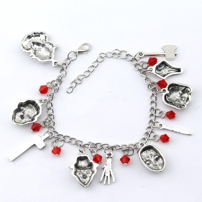 Stephen King Inspired Horror Charm Bracelet