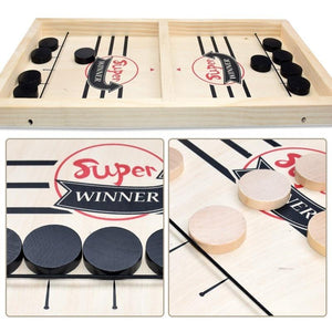 Wooden Sling Puck Game