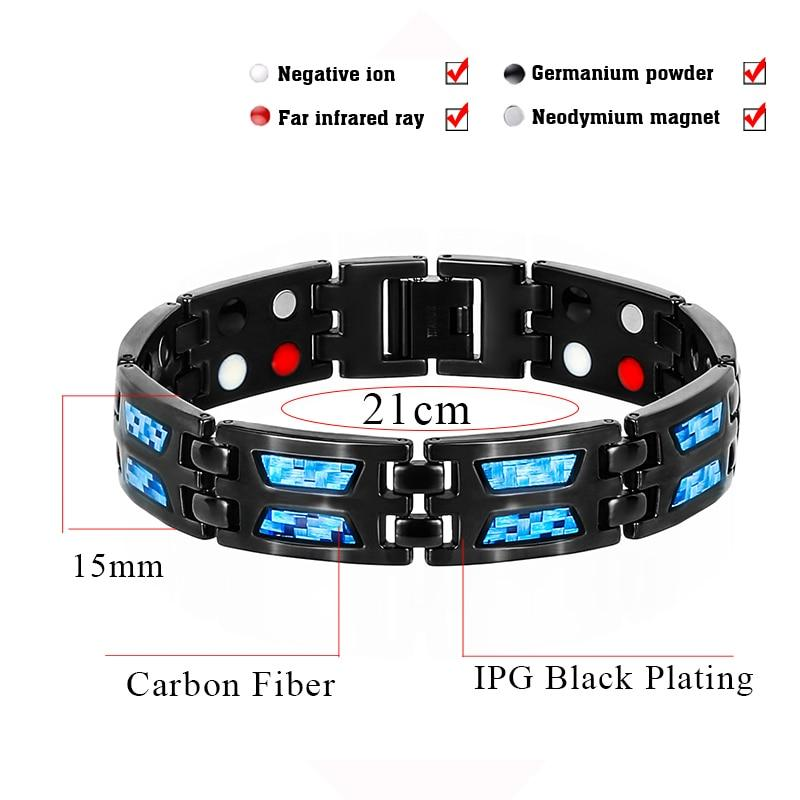 Carbon Blue Therapeutic Energy Bracelet