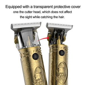 Rechargeable Professional Barber Close Cutting T-Blade Hair Clippers