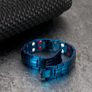 Blue Magnetic Therapeutic Bracelet