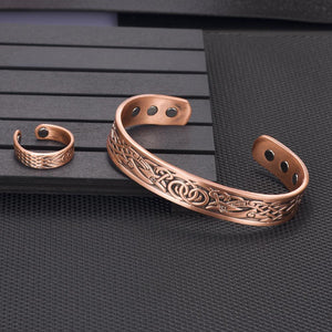 Vintage Pure Copper Magnetic Healing Bracelet Bangle