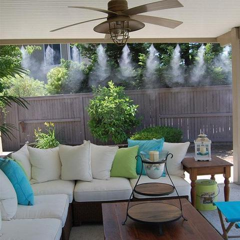 Outdoor Water Misting Cooling System For Patio And Garden