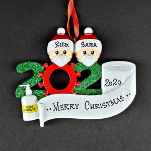 2020 Quarantine Christmas Tree Ornament