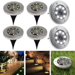 8-LED Solar Powered Disc Light
