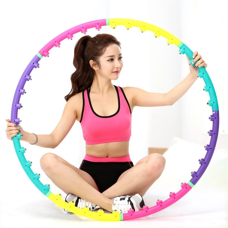 Magnetic Fitness Massage Hoops with model