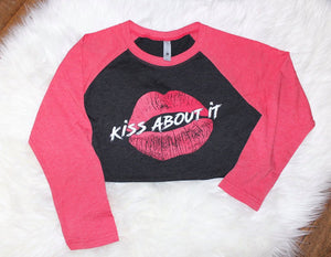 """Kiss About It"" Baseball Tee"