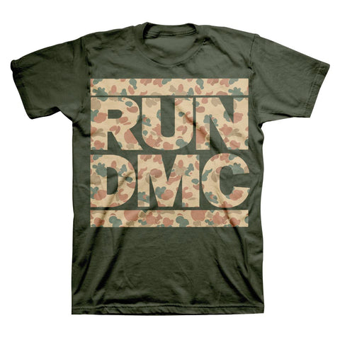 Run DMC Camo Logo T-Shirt