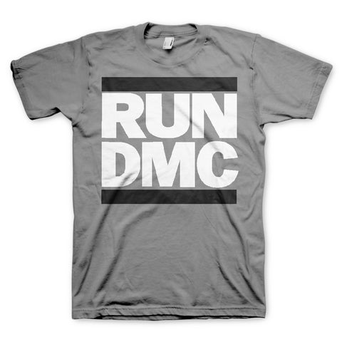Run DMC Logo Grey T-Shirt