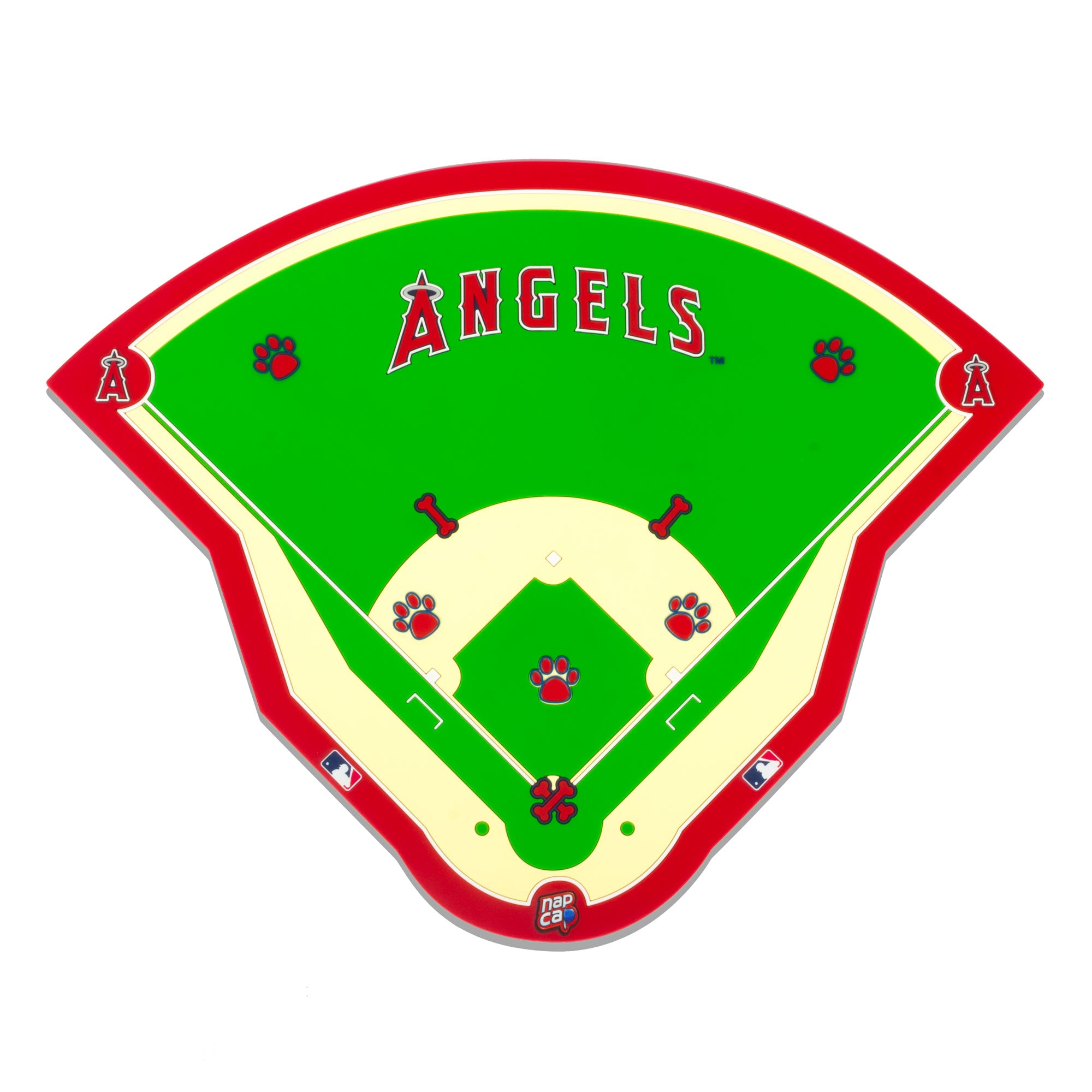 Los Angeles Angels Field Pet Feeding Mat