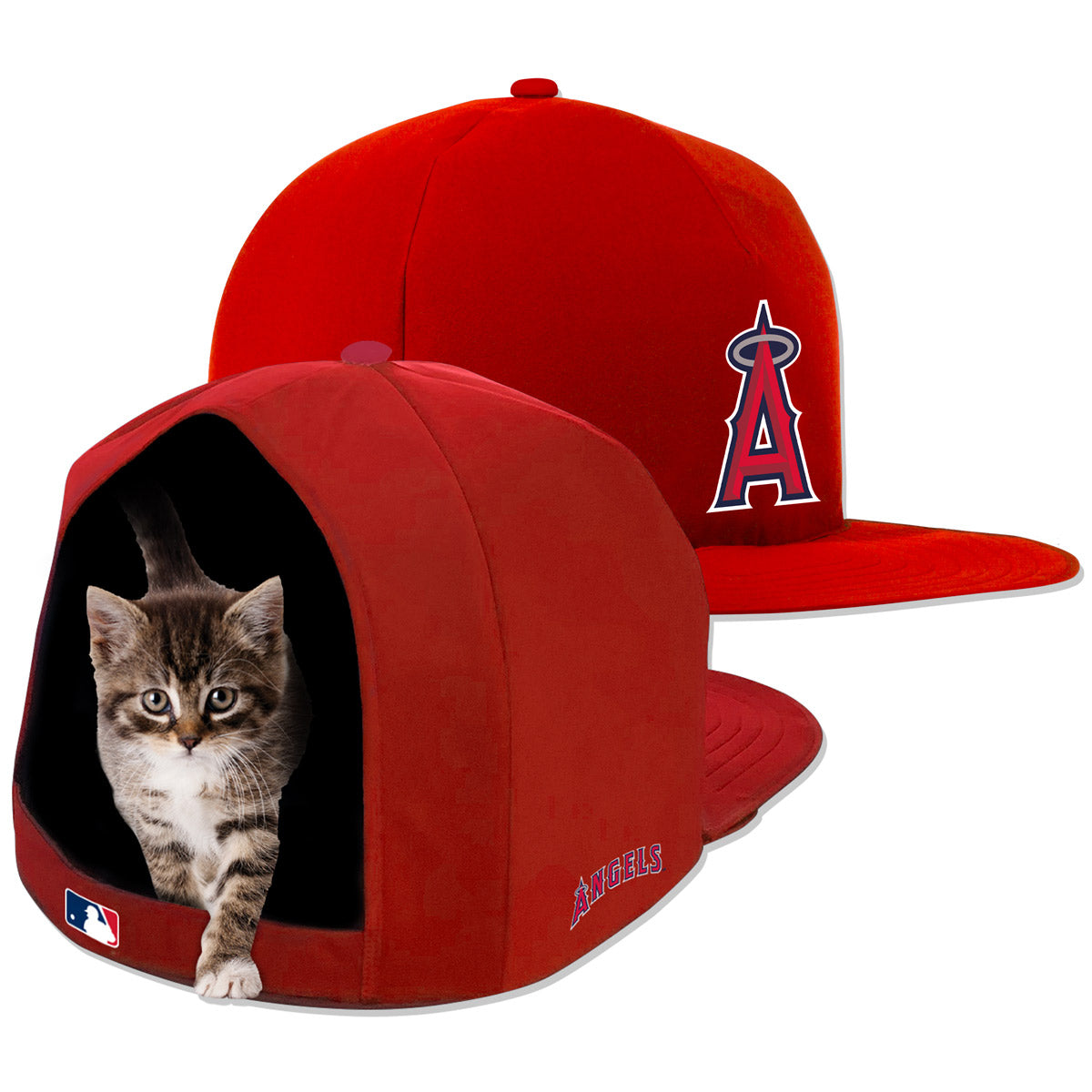 LA Angels Nap Cap Plush Dog Bed