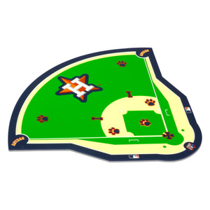 MLB MAT-ASTROS-FIELD MAT (PVC)-BLUE/ORANGE