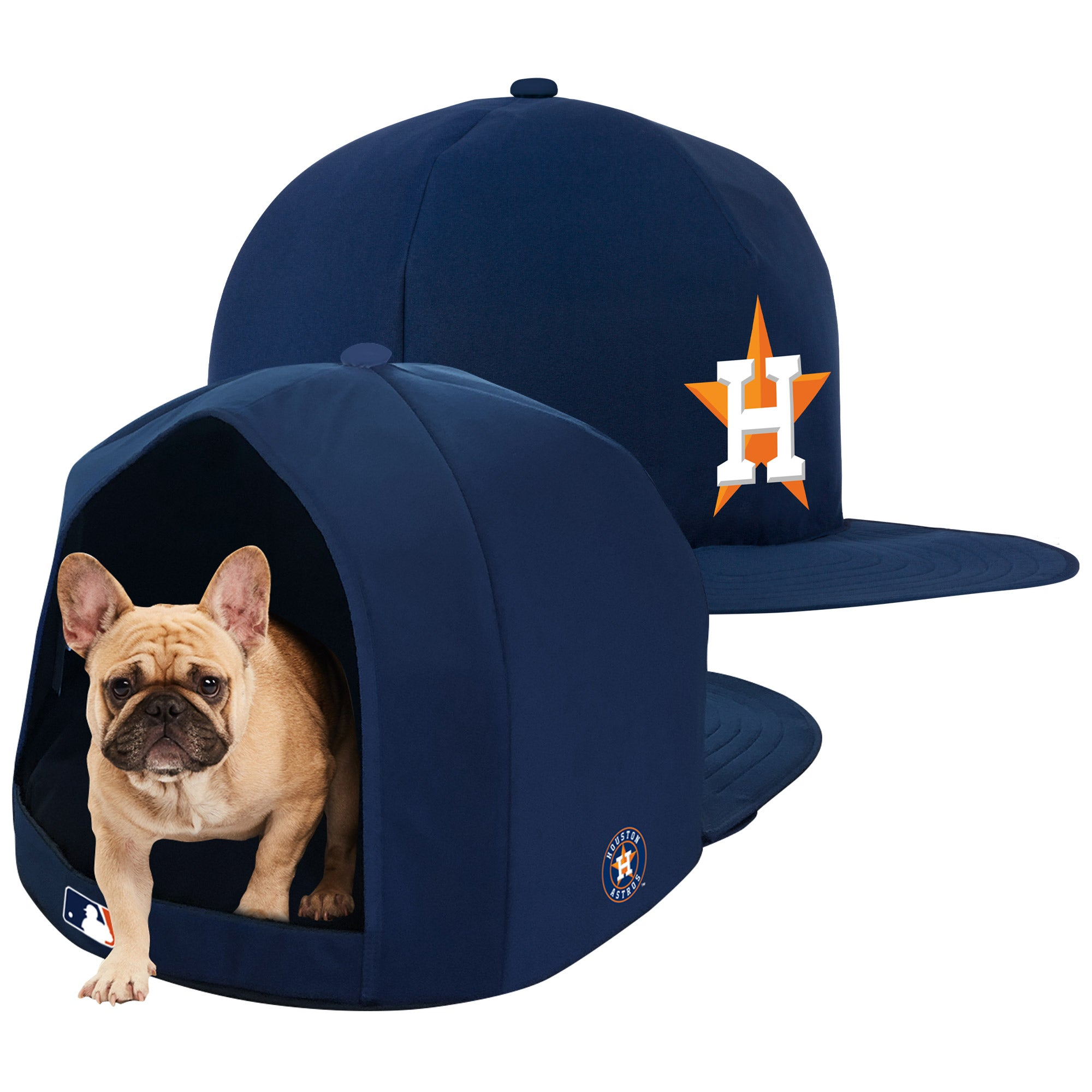 Houston Astros Nap Cap Plush Dog Bed