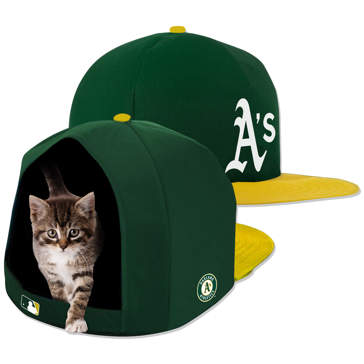 Oakland Athletics Nap Cap Plush Dog Bed