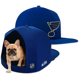 NHL PET BED-BLUES-PLUSH-BLUE/GOLD