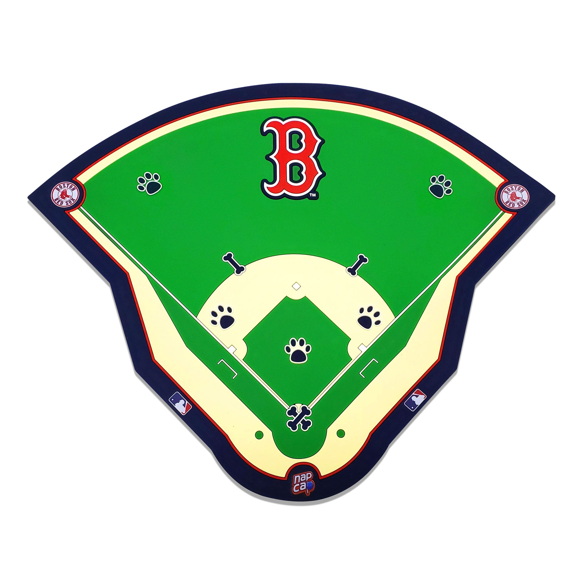 Boston Red Sox Field Pet Feeding Mat