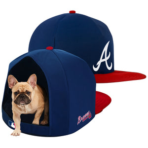 Atlanta Braves Nap Cap Plush Dog Bed