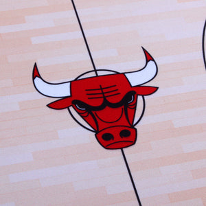 Chicago Bulls Food Court Mat - Coated Poly Twill