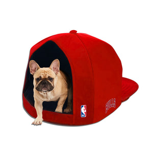 NBA PET BED-BULLS-PLUSH-RED/WHITE