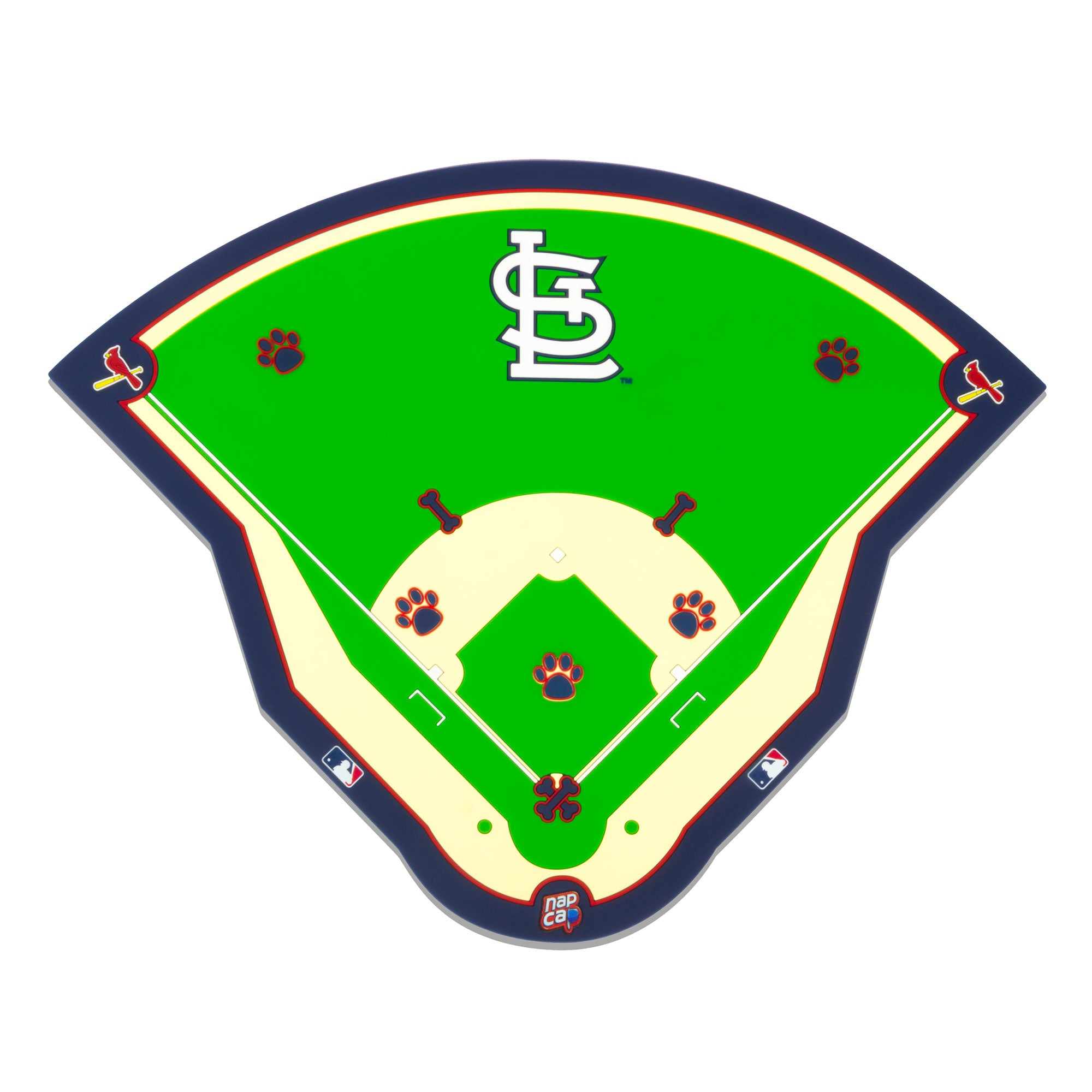 St. Louis Cardinals Field Pet Feeding Mat
