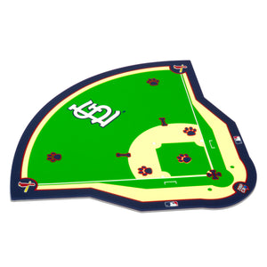 MLB MAT-CARDINALS-FIELD MAT (PVC)-RED/WHITE