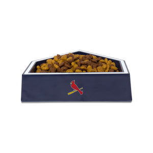 St. Louis Cardinals Home Plate Dog Bowl