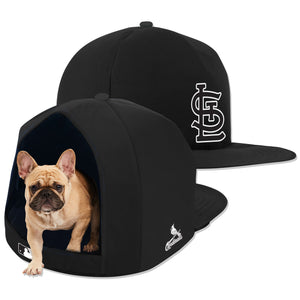 St. Louis Cardinals Noir Nap Cap Plush Dog Bed