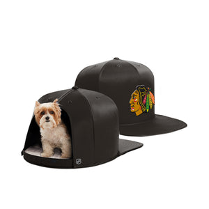 Chicago Blackhawks Nap Cap Dog Bed