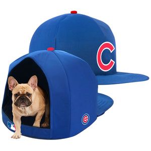 MLB PET BED-CUBS-PLUSH-BLUE/WHITE