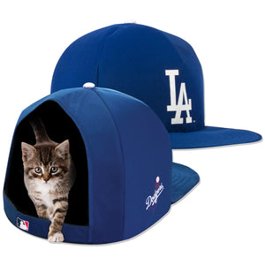 MLB PET BED-DODGERS-PLUSH-BLUE/WHITE