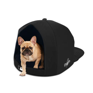 LA Dodgers Noir Nap Cap Plush Dog Bed