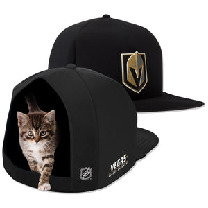 NHL PET BED-GOLDEN KNIGHTS-PLUSH-BLACK/GOLD