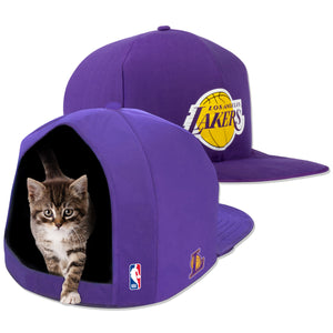 NBA PET BED-LAKERS-PLUSH-PURPLE/GOLD