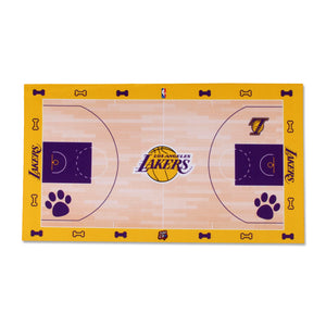 Los Angeles Lakers Food Court Mat - Coated Poly Twill