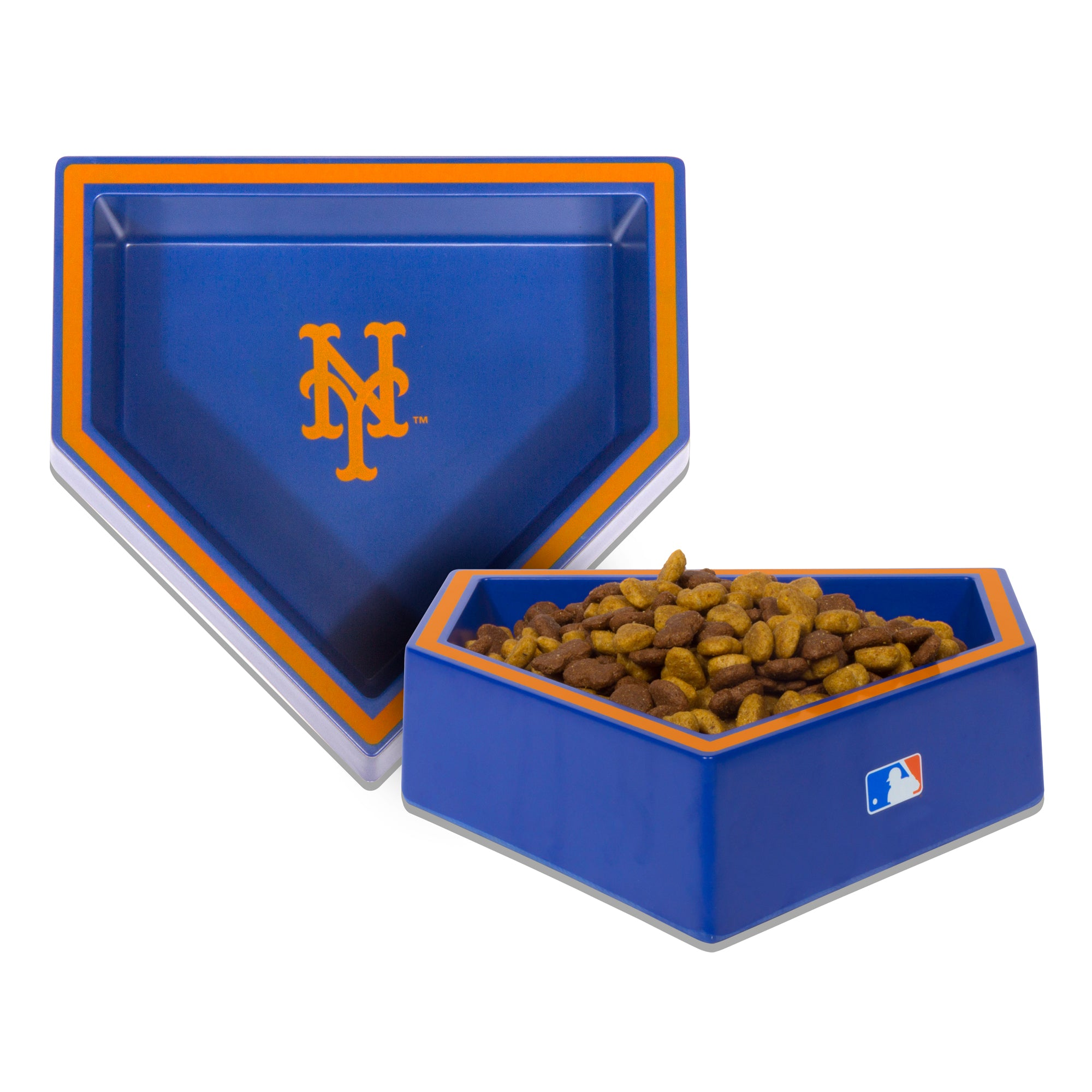 New York Mets Home Plate Dog Bowl